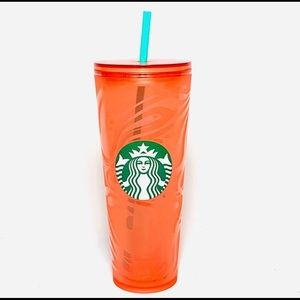 Starbucks Orange / Pink Swirl Tumbler